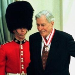 John Kenneth Galbraith was awarded the insignia of honorary Officer of the Order of Canada.