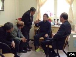 陳水扁最近接受探視(台灣監察部照片)
