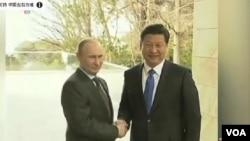 中國國家主席習近平去年上任後,首先出訪的國家就是俄羅斯﹐圖為習近平與普京。