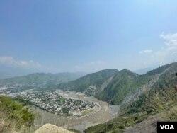 مظفر آباد شہر کا ایک منظر
