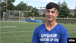 Amir gets ready for the first day of play at the 2018 Uyghur American Cup