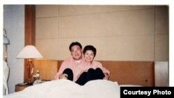 微博上发布的宋林与涉嫌包养的情妇杨丽娟 (王文志微博图片)
