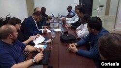 Reunião com as entidades africanas durante o III Congresso Internacional organizado pelo UNIS