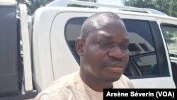 Paul Marie Mpouele, ancien coordonnateur de FROCAD, à Brazzaville, le 11 décembre 2019. (VOA/Arsène Séverin)