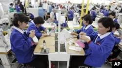2007년 6월 개성공단에 공장을 둔 한국 신발업체.