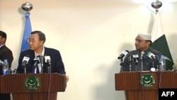 Пан Гі Мун на прес-конференції в Пакистані