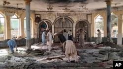 Pas shpërthimit brenda xhamisë në Kunduz (8 tetor 2021)