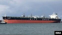 عکس آرشیوی از یک نفتکش متعلق به شرکت ملی نفتکش ایران در اب های خلیج فارس