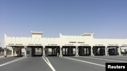 A view shows Abu Samra border crossing to Saudi Arabia, in Qatar, June 12, 2017.