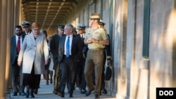 Secretary of Defense Jim Mattis and Australia's Minister for Defence Marise Payne visit the Victoria Barracks in Sydney, Australia, June 5, 2017. (DOD photo by U.S. Air Force Staff Sgt. Jette Carr)