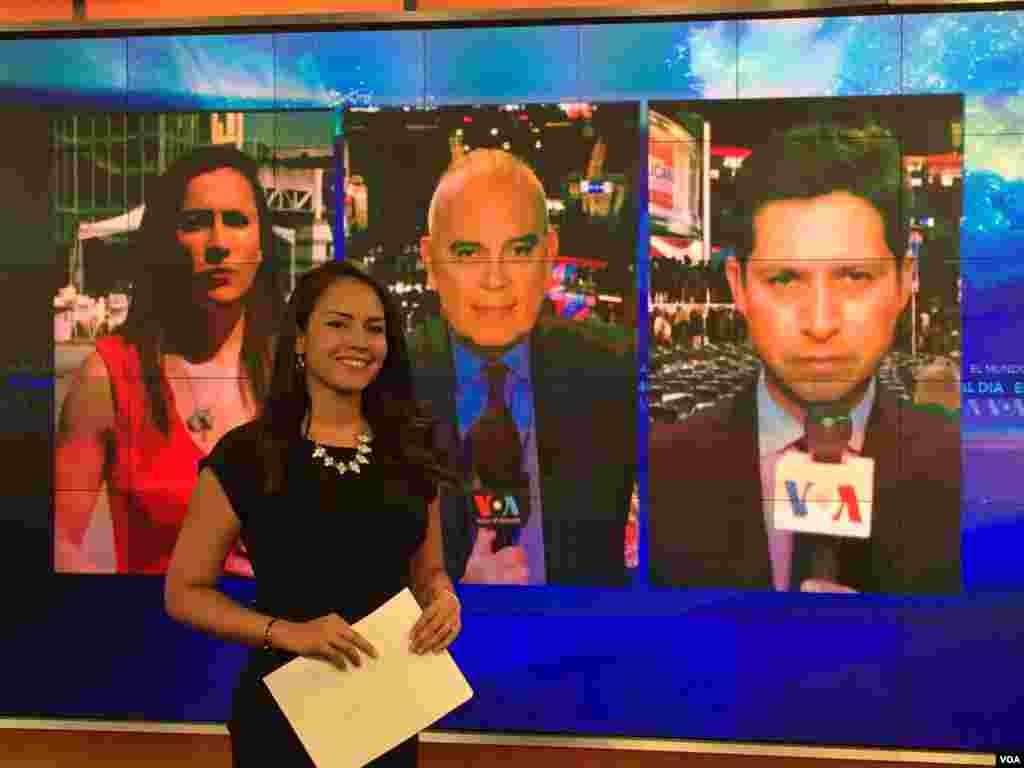 VOA Spanish team reporting on the RNC in Cleveland, Ohio & Washington, D.C.