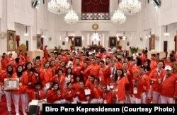 Kontingen Indonesia untuk Asian Games 2018 di Istana Negara.