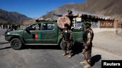 Pasukan keamanan Afghanistan melakukan penjagaan di lembah Panjshir (foto: dok0.