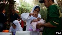 Ai Cập bắt đầu vòng chủng ngừa bại liệt tại Cairo.