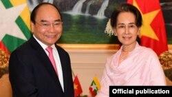 ဗီယက္နမ္ ၀န္ႀကီးခ်ဳပ္ Nguyen Xuan Phuc နဲ႔ အတိုင္ပင္ခံပုဂၢိဳလ္ ေဒၚေအာင္ဆန္းစုၾကည္တို႔ ေတြ႔ဆံု (MOI)