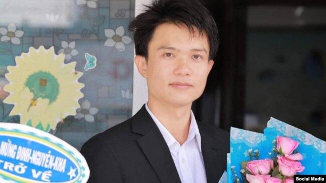 Nhà hoạt động Đinh Nguyên Kha, Long An, ngày 11/10/2018. Facebook Đinh Nguyên Kha