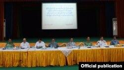 ရခုိင္ျပည္နယ္က အၾကမ္းဖက္တုိက္ခုိက္မွုနဲ႔ ပတ္သက္လုိ႔ သတင္းစာရွင္းလင္းပဲြက်င္းပ (MOI)