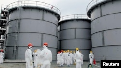 Tanks of radiation-contaminated water are seen at the Tokyo Electric Power Co (TEPCO)'s tsunami-crippled Fukushima Daiichi nuclear power plant in Fukushima prefecture. (File photo)