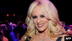 L'ex-actrice porno Stormy Daniels lors d'une exposition à Las Vegas, Nevada, le 19 janvier 2012.