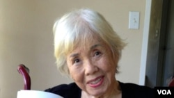 Dancer, actress and nightclub hostess Mai Tai Sing, now 91 (H. Chang/VOA).