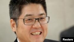 中國外交部副部長樂玉成(路透社2018年11月6日)