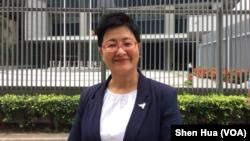 香港立法会议员黄碧云博士 (美国之音记者申华 拍摄)