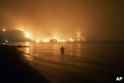 Požar nedaleko od sela Limni, na ostrvu Evia, 6. avgusta 2021.