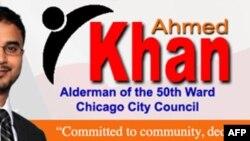 Ahmad Xon Chikago shahar kengashiga o'z nomzodini qo'yganlardan biri
