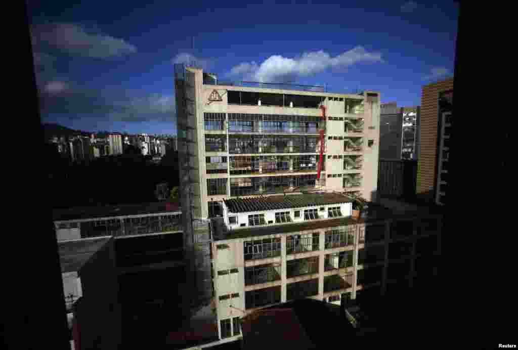 A building in Belo Horizonte, Brazil, June 11, 2014.