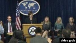 国务院官员预览第四轮美中人文交流高层磋商(美国之音视频截图)
