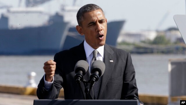 President Barack Obama speaks about the economy at the Port of New Orleans, Nov. 8, 2013.