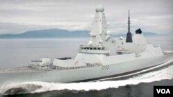 """El gobierno británico envió a su destructor """"HMS Dauntless"""" a las islas Malvinas el mes pasado."""
