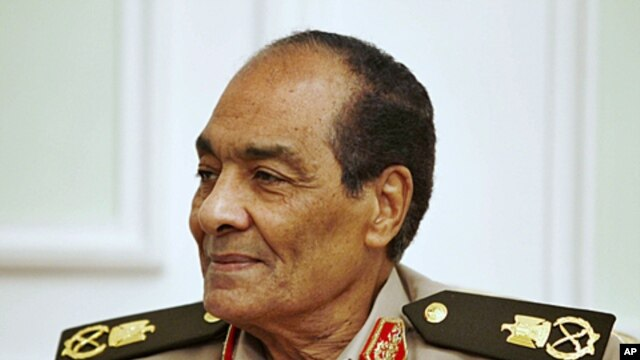 Field Marshal Mohamed Hussein Tantawi, head of Egypt's ruling military council (file photo)