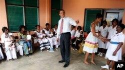 Втора турнеја по Африка откако стана претседател: Обама за време на посетата на Гана, 2009-тата