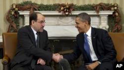 美國總統奧巴馬星期一在白宮與伊拉克總理馬利基舉行會談