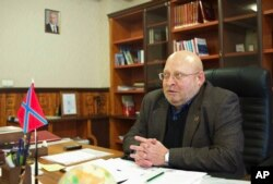 History professor Sergey Baryshnikov served as acting rector of the rebel-held campus in 2014.