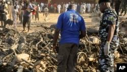 Image prise bombardement à la mosquée de Kano, le 28 Novembre 2014.