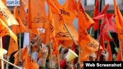 قدامت پسند ہندو گروپ کا احجاجی مظاہرہ۔ فائل فوٹو