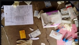 MSF personnel found medical supplies strewn around Leer Hospital when they visited recently. (Courtesy Michael Goldfarb/MSF)