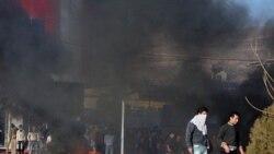 تظاهرکنندگان با آتش زدن لاستیک یکی از خیابان های سلیمانیه را بستند