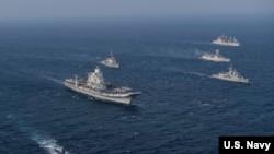 美日澳印2020年马拉巴尔联合军演(美国海军照片)