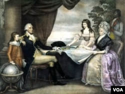 Джордж Вашингтон з сім'єю. Картина Едварда Саваджа