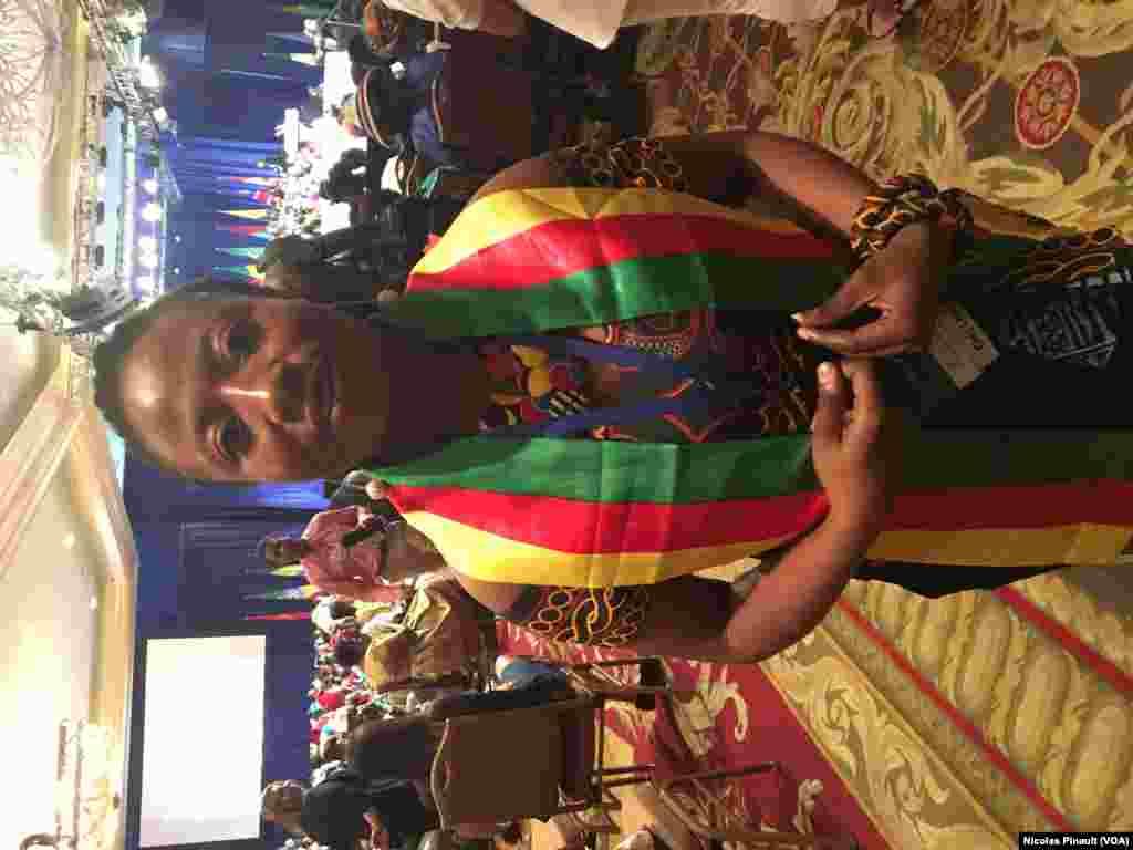 Mercy Kyeng, participante camerounaise au YALI 2016, Washington, le 3 aout 2016 (VOA/Nicolas Pinault)
