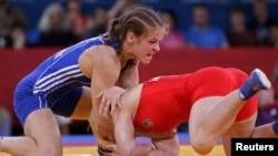 2012年奧運女子摔跤比賽 (資料圖片)
