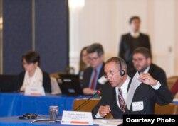 Franklin Nieves, ex fiscal del Ministerio Público de Venezuela declara ante expertos de la OEA.