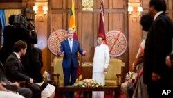 Джон Керри и президент Шри-Ланки Майтрипала Сирисена
