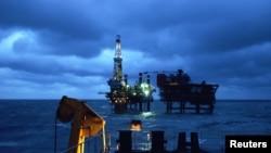 Giàn khoan dầu của tập đoàn dầu khí quốc gia CNOOC ngoài khơi biển Bột Hải.