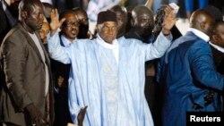 Abdoulaye Wade lors de son précédent retour à Dakar, en avril 2014. (REUTERS/Mamadou Gomis)
