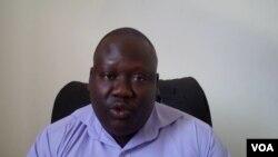 Primeiro secretario provincial da JMPLA César Tiago Quitumba