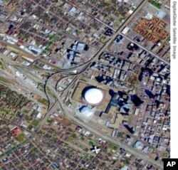 New Orleans (Before - on 9 March 2004) with Superdome near the center